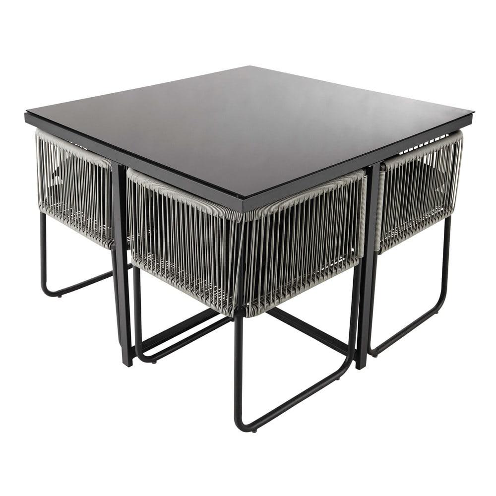Tavoli Da Esterno In Resina.Tavolo Da Giardino 4 Sedie In Resina L 107 Cm Swann Maisons Du Monde