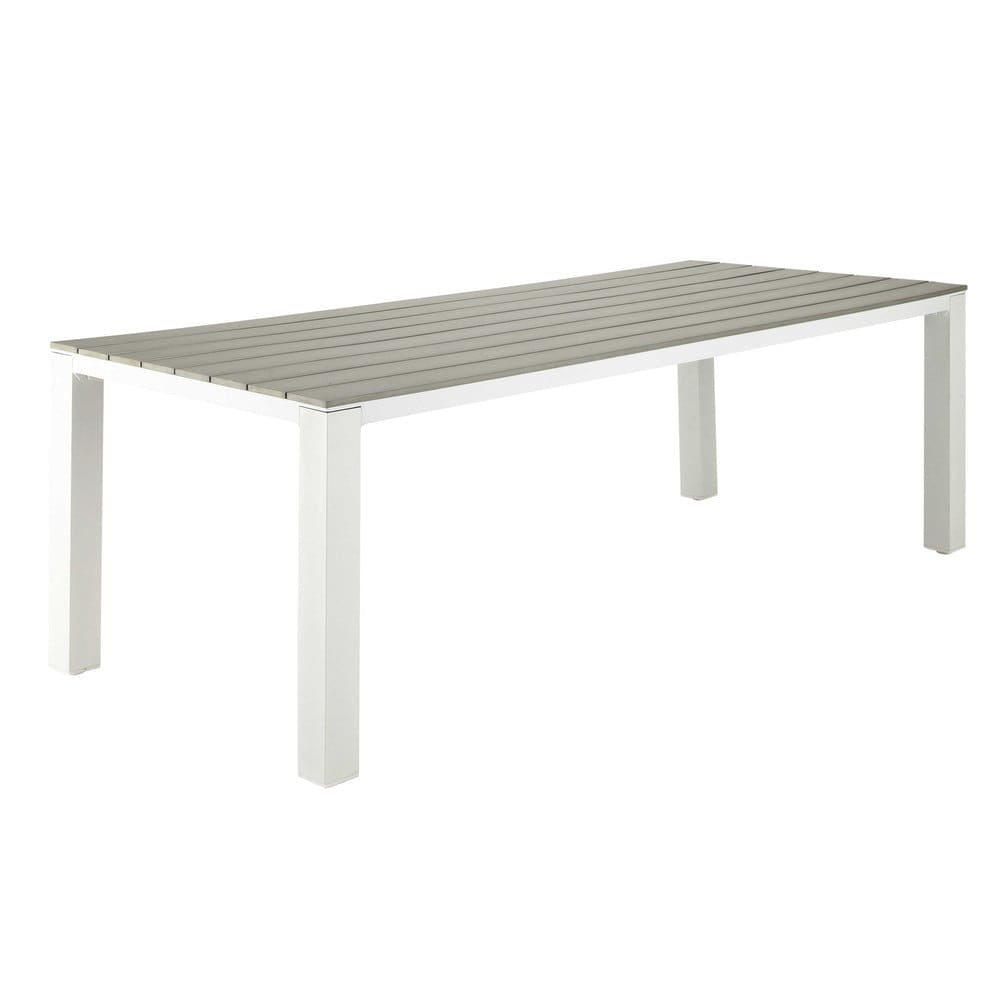 Tavoli Da Giardino In Alluminio.Tavolo Da Giardino 8 10 Persone In Alluminio E Composito L230 Escale
