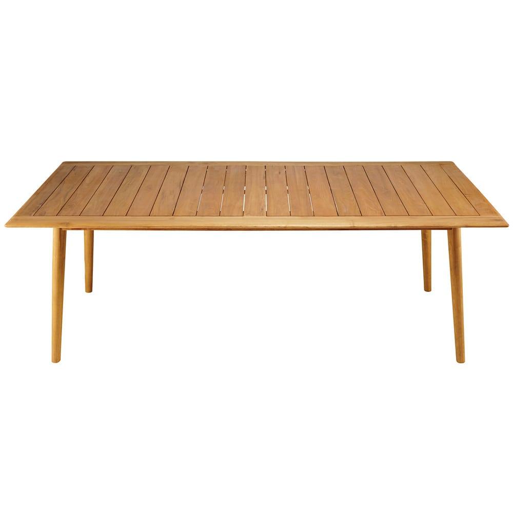 Tavolo Giardino Legno Massiccio.Tavolo Da Giardino 8 Persone In Legno Massello Di Acacia Frejus