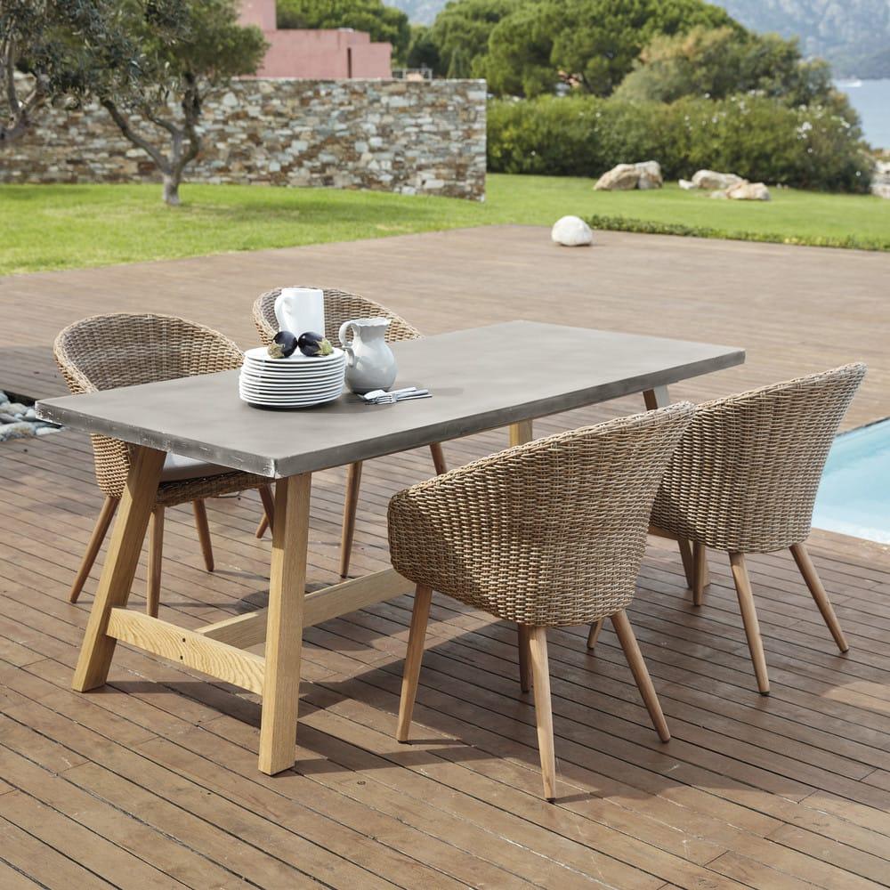 Tavolo da giardino effetto cemento 8 10 persone aquitaine for Tavolo 10 persone