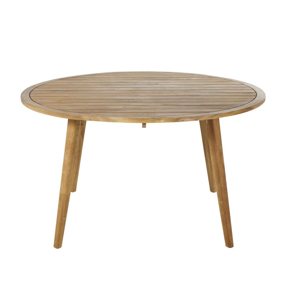 Tavolo Da Giardino Tondo.Tavolo Da Giardino Rotondo In Legno Massello Di Acacia 6 Persone