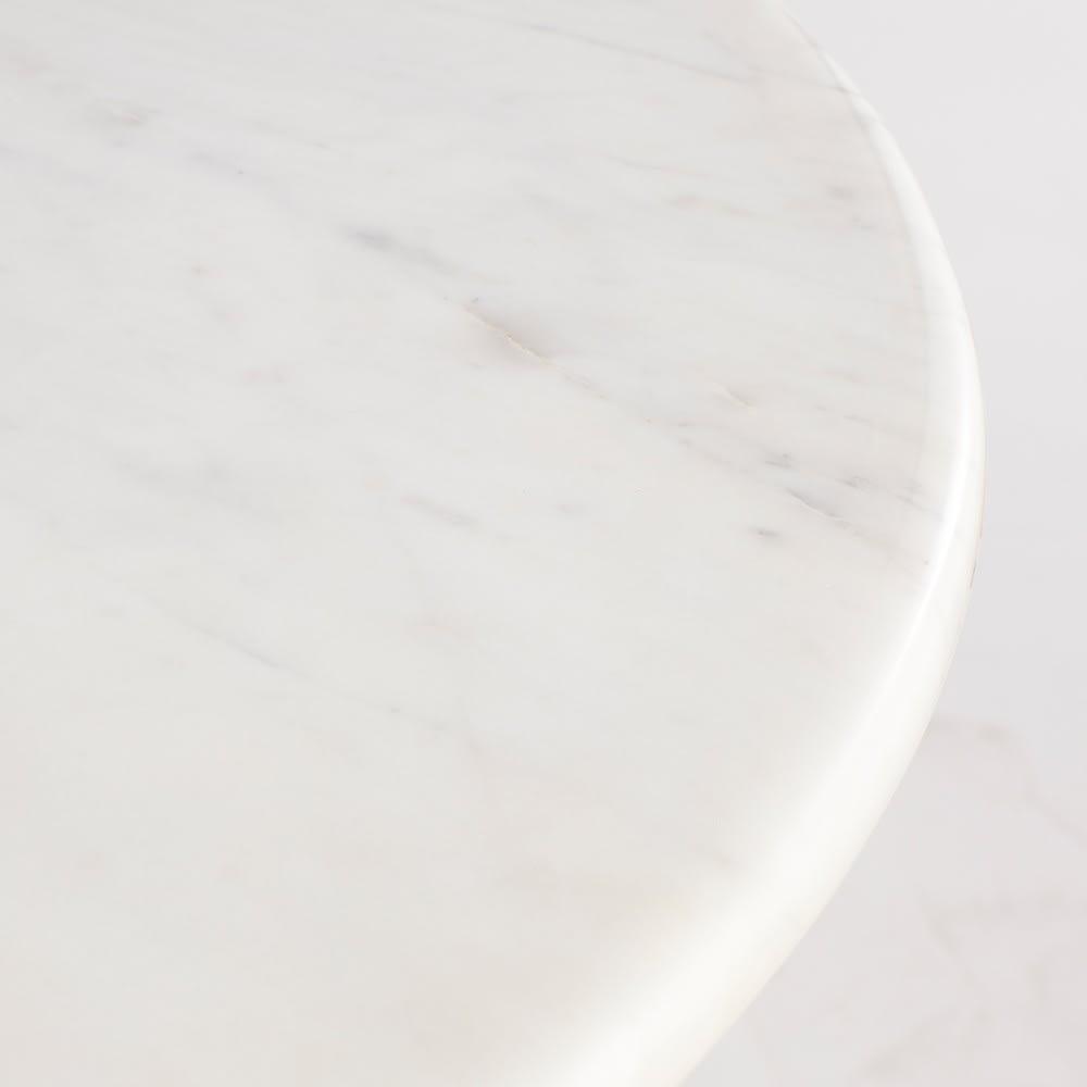 Tavolo da pranzo 4 6 persone in marmo bianco e ferro for Tavolo pranzo bianco