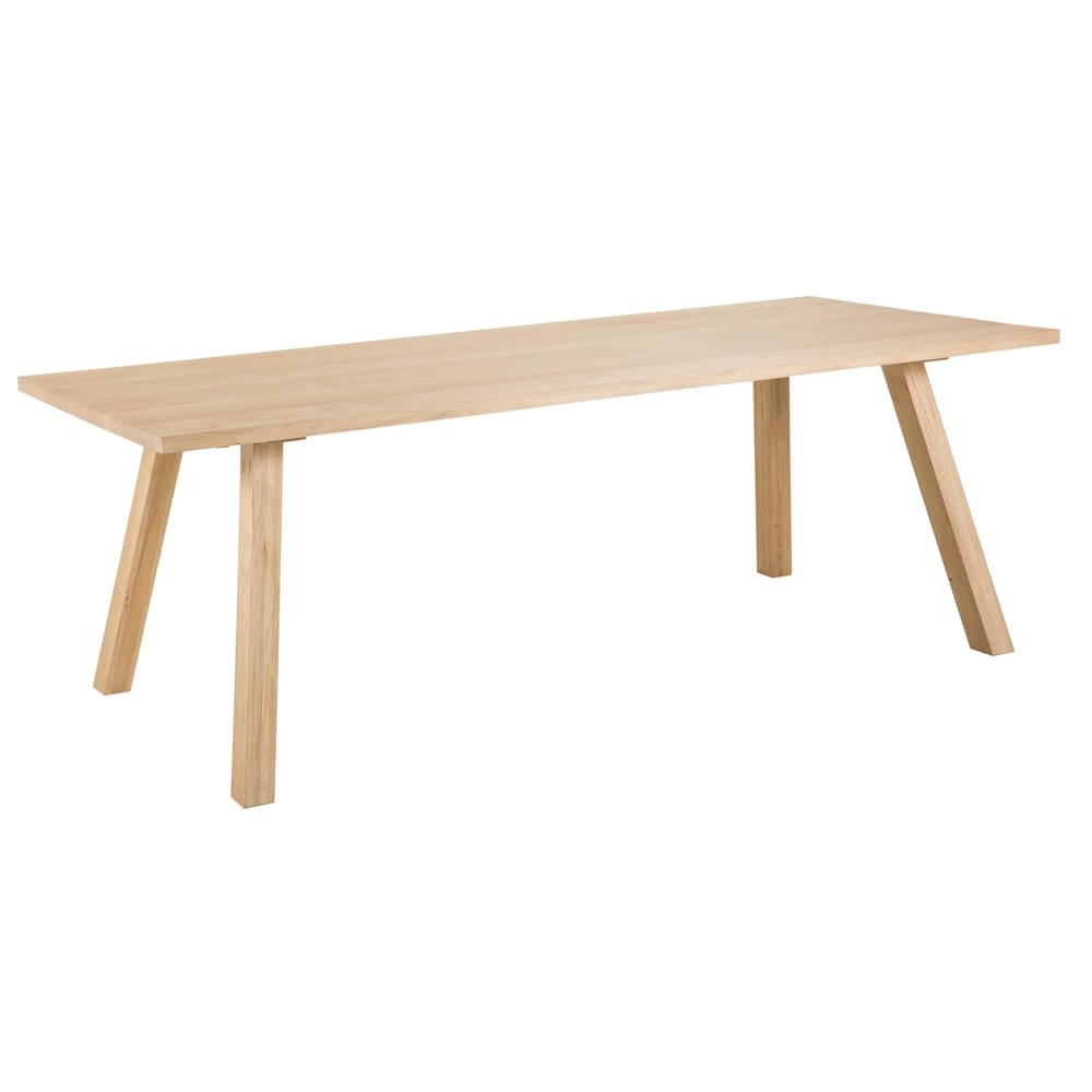 Tavolo da pranzo 6 persone in legno massello di quercia for Tavolo 12 persone