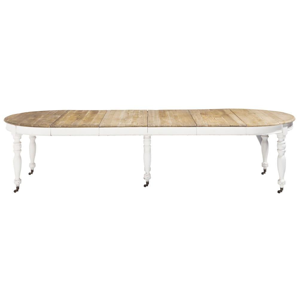 Tavolo Allungabile Per 14 Persone.Tavolo Da Pranzo Allungabile A Rotelle 6 14 Persone 125 325 Cm