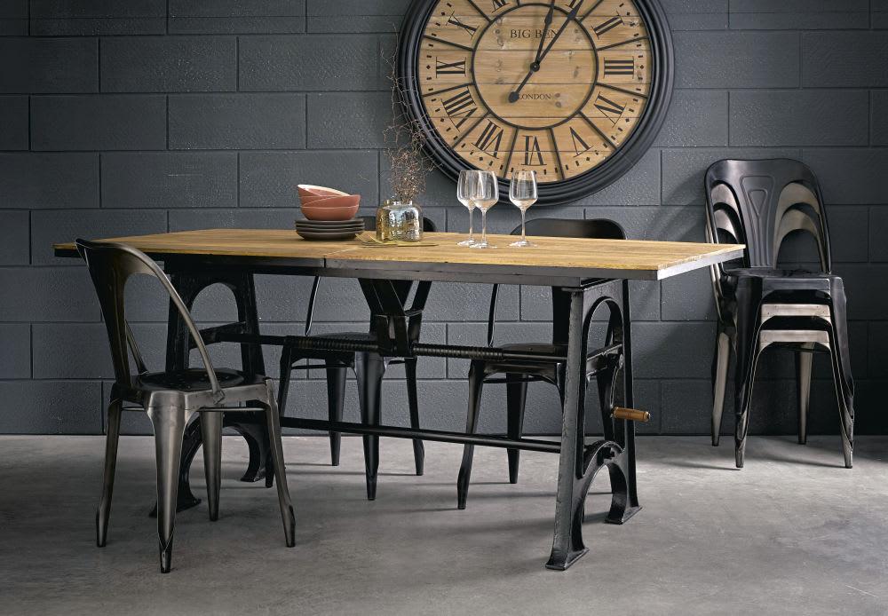 Tavolo da pranzo industriale allungabile 8 a 10 persone for Tavolo di pranzo