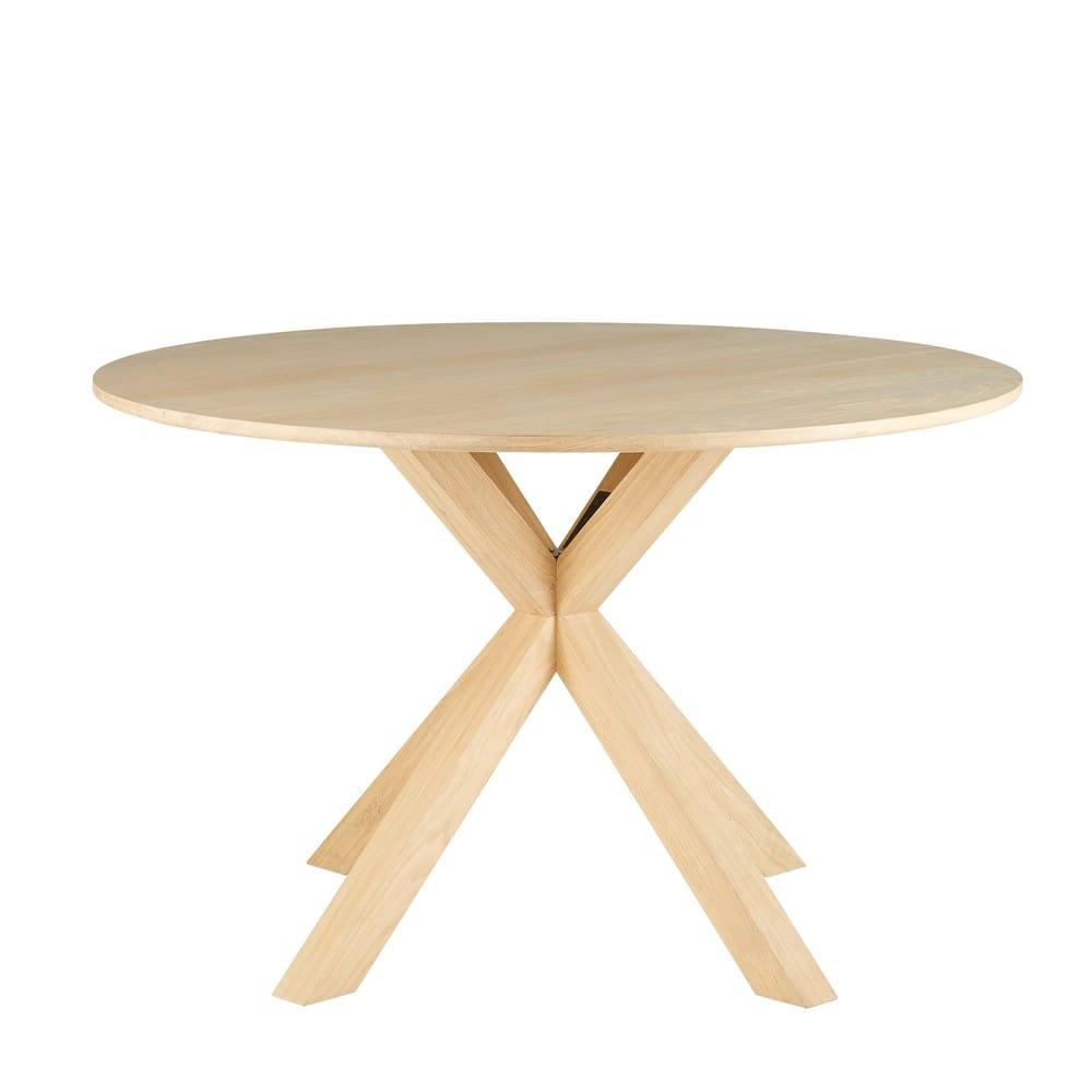 Tavolo da pranzo rotondo 6 persone in legno massello di for Tavolo rotondo allungabile legno