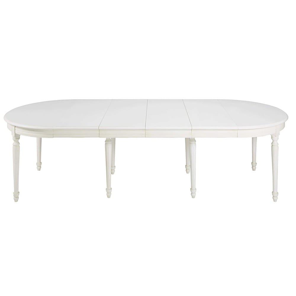 Tavolo Allungabile Per 14 Persone.Tavolo Da Pranzo Rotondo Allungabile 4 A 14 Persone In Bianca