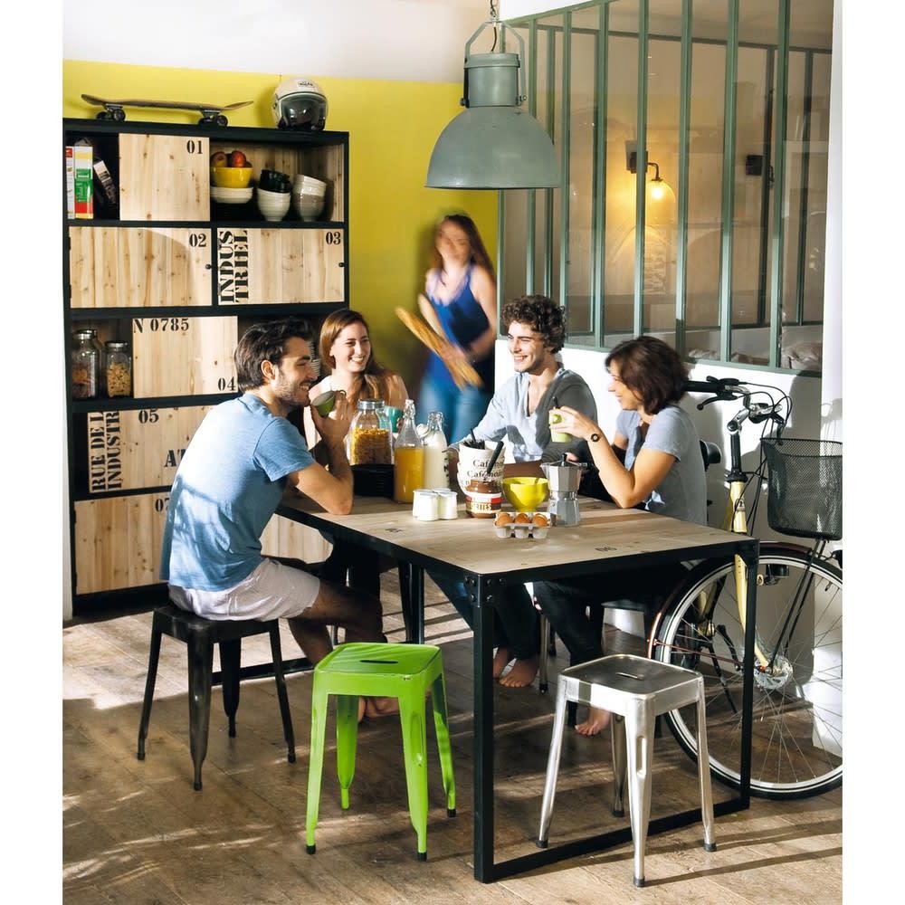 Tavolo da pranzo stile industriale in abete e metallo 8 ...