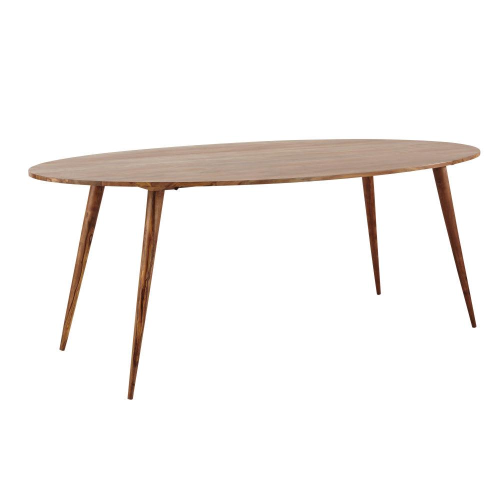 Tavolo ovale in massello di legno di sheesham per sala da for Tavolo ovale allungabile legno
