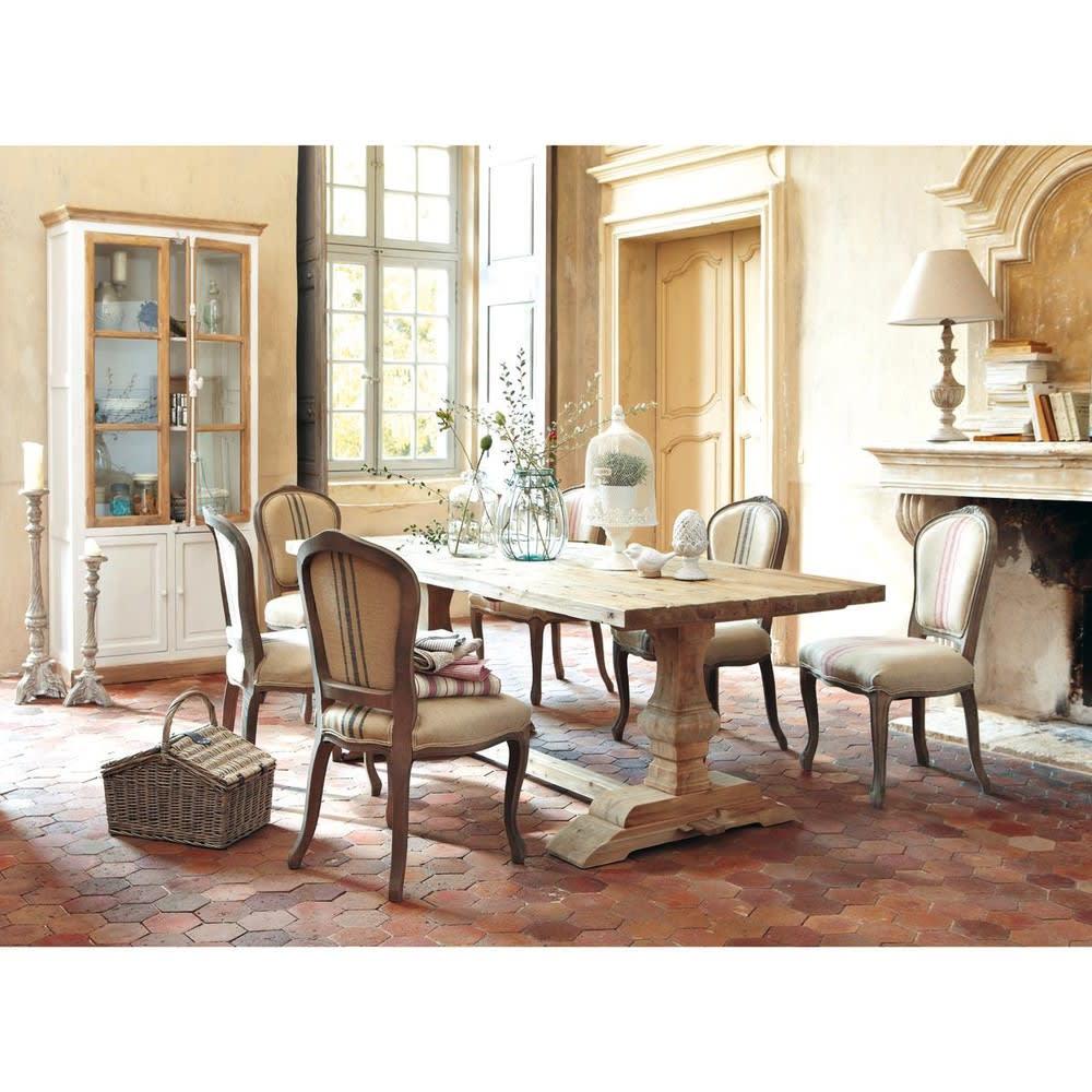 Tavolo per sala da pranzo in legno effetto anticato l 220 for Tavolo legno per sala da pranzo