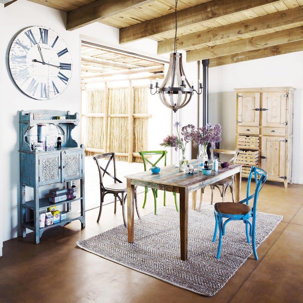 Tavolo per sala da pranzo in legno riciclato effetto for Tavolo legno per sala da pranzo