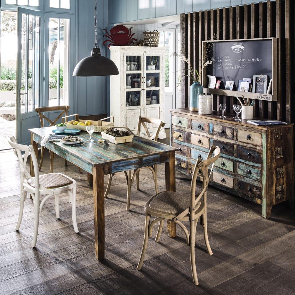 Tavolo per sala da pranzo in legno riciclato effetto ...