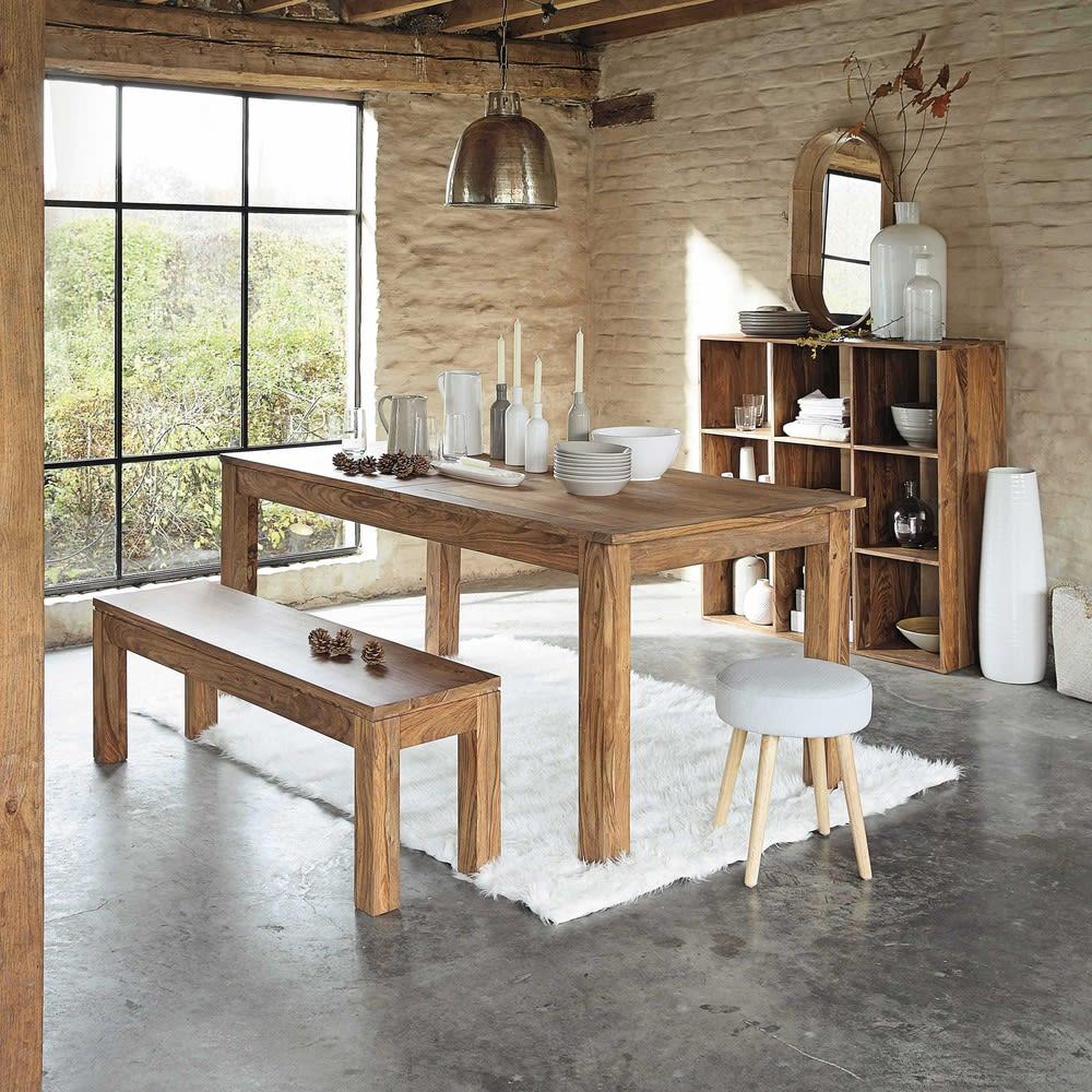 tavolo per sala da pranzo in massello di legno di sheesham