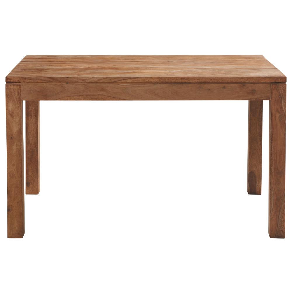 Tavolo per sala da pranzo in massello di legno di sheesham 6 persone 130 cm stockholm maisons - Tavolo per 10 persone ...
