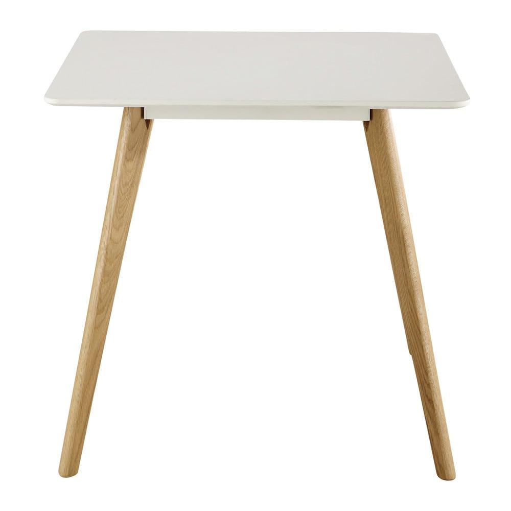 Tavolo quadrato bianco per sala da pranzo 80 cm June | Maisons du Monde
