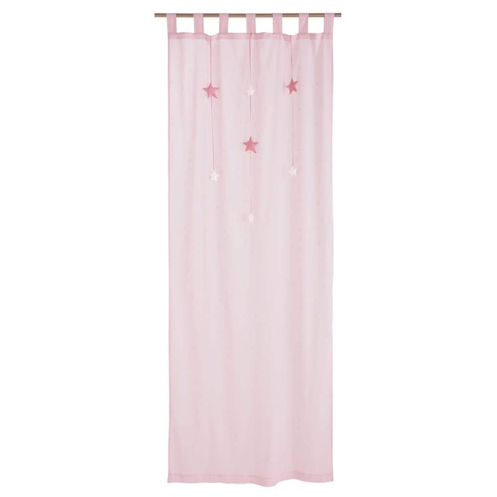 Tende A Vetro Maison Du Monde.Tenda Rosa In Cotone Con Passanti 102x250cm Lilly Maisons Du Monde