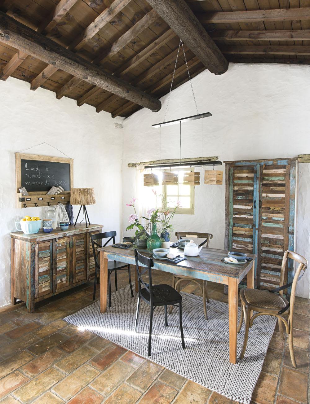 teppich aus gewebter baumwolle in grau 140x200 noe. Black Bedroom Furniture Sets. Home Design Ideas
