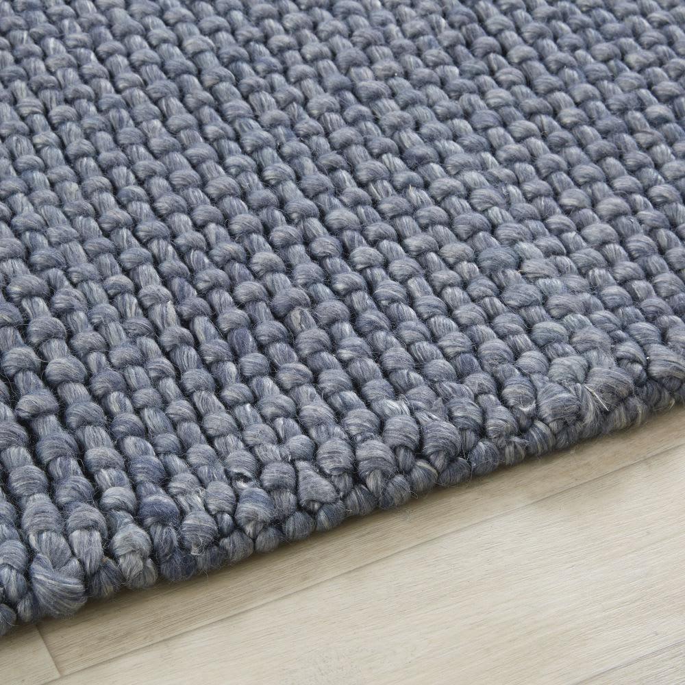 teppich aus gewebter wolle in anthrazitgrau 140x200. Black Bedroom Furniture Sets. Home Design Ideas