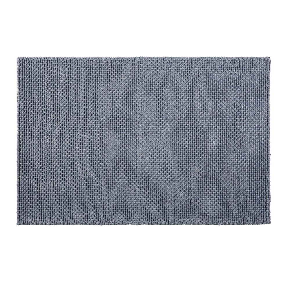 teppich aus gewebter wolle in anthrazitgrau 160x230. Black Bedroom Furniture Sets. Home Design Ideas