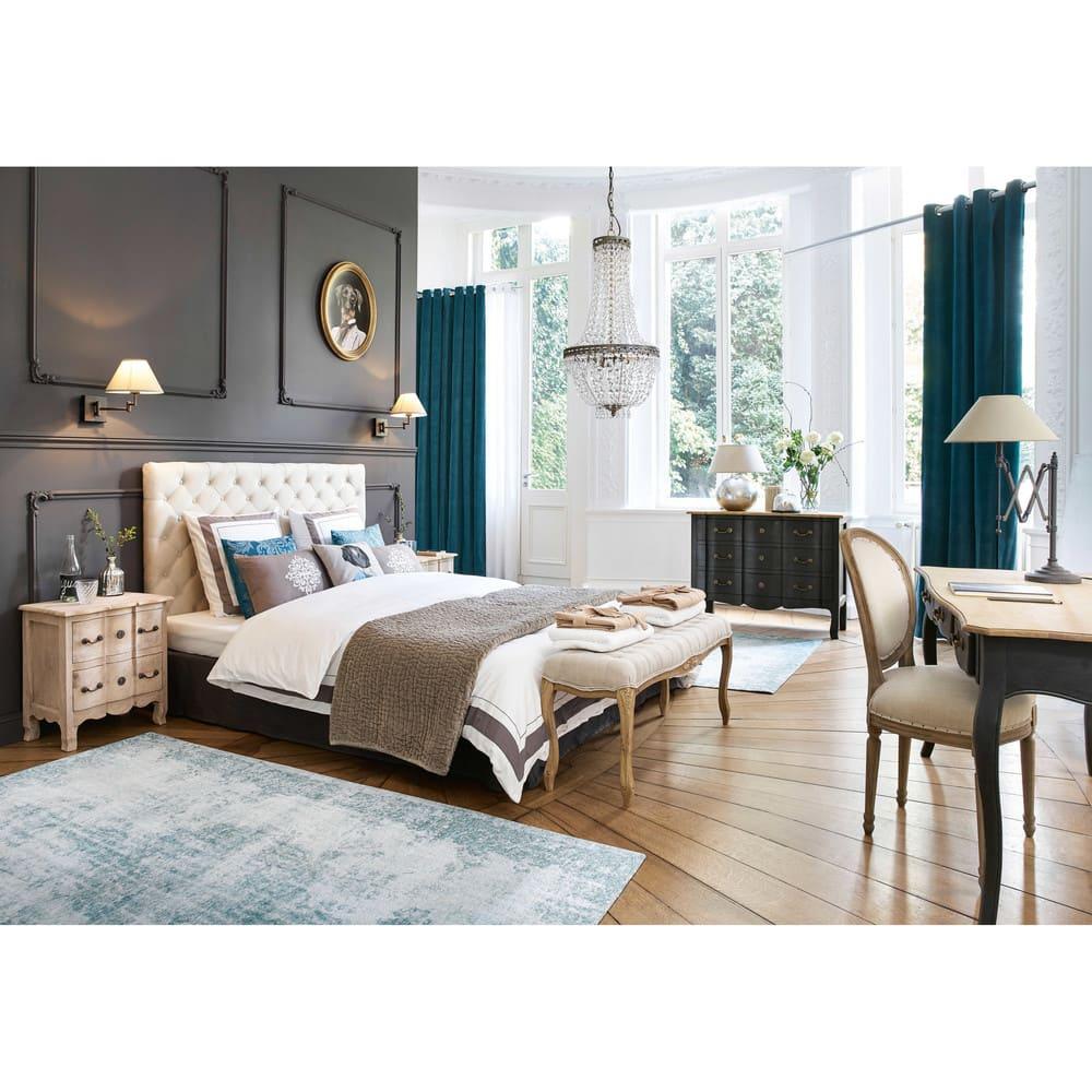 Testata da letto imbottita vintage in lino l 180 cm chesterfield maisons du monde - Letto testata imbottita ...