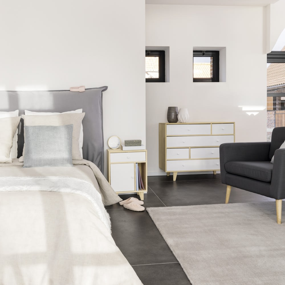 t te de lit 140 houssable soft maisons du monde. Black Bedroom Furniture Sets. Home Design Ideas