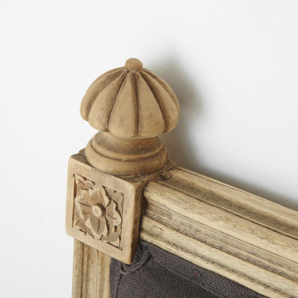 t te de lit 180 en lin taupe aline maisons du monde. Black Bedroom Furniture Sets. Home Design Ideas