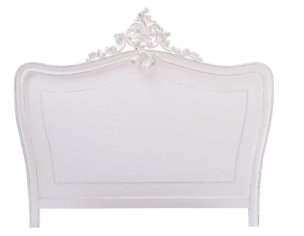 Tête de lit 180 en pin blanc vieilli Comtesse | Maisons du Monde