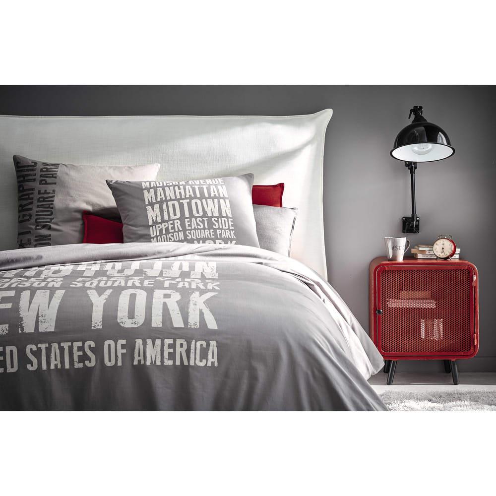t te de lit 180 houssable en bois morphee maisons du monde. Black Bedroom Furniture Sets. Home Design Ideas