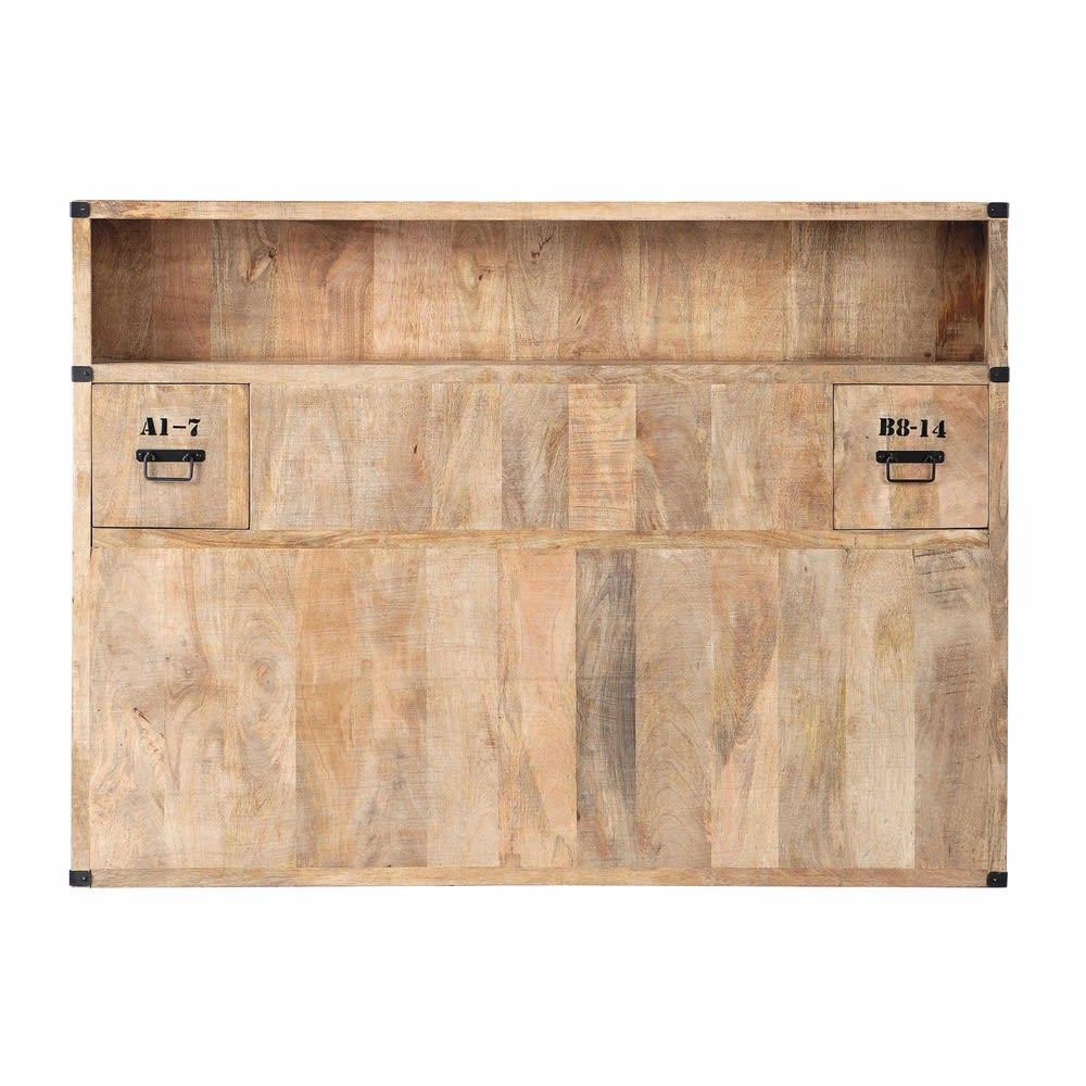 Tête de lit avec rangements en manguier massif L 140 cm Manufacture ... ce951f33da9e