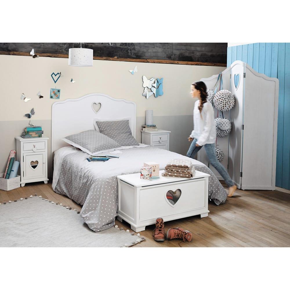 Tête de lit blanc L90 Valentine   Maisons du Monde