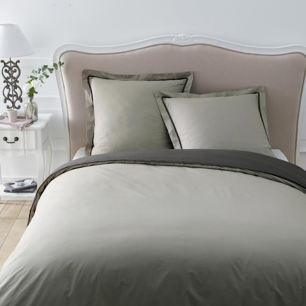 t te de lit en bois massif et coton l 160 cm jos phine maisons du monde. Black Bedroom Furniture Sets. Home Design Ideas