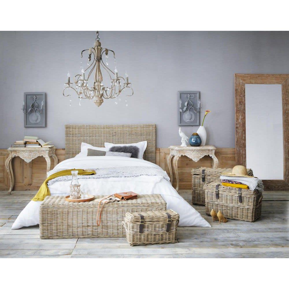 Tête de lit en rotin Kubu et mahogany massif L 160 cm Key West ... 9d65b6549daf