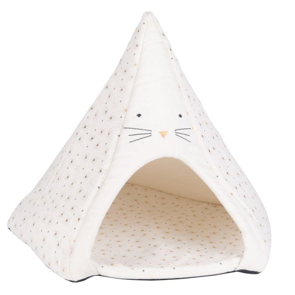tipi pour chat blanc imprim girly maisons du monde. Black Bedroom Furniture Sets. Home Design Ideas