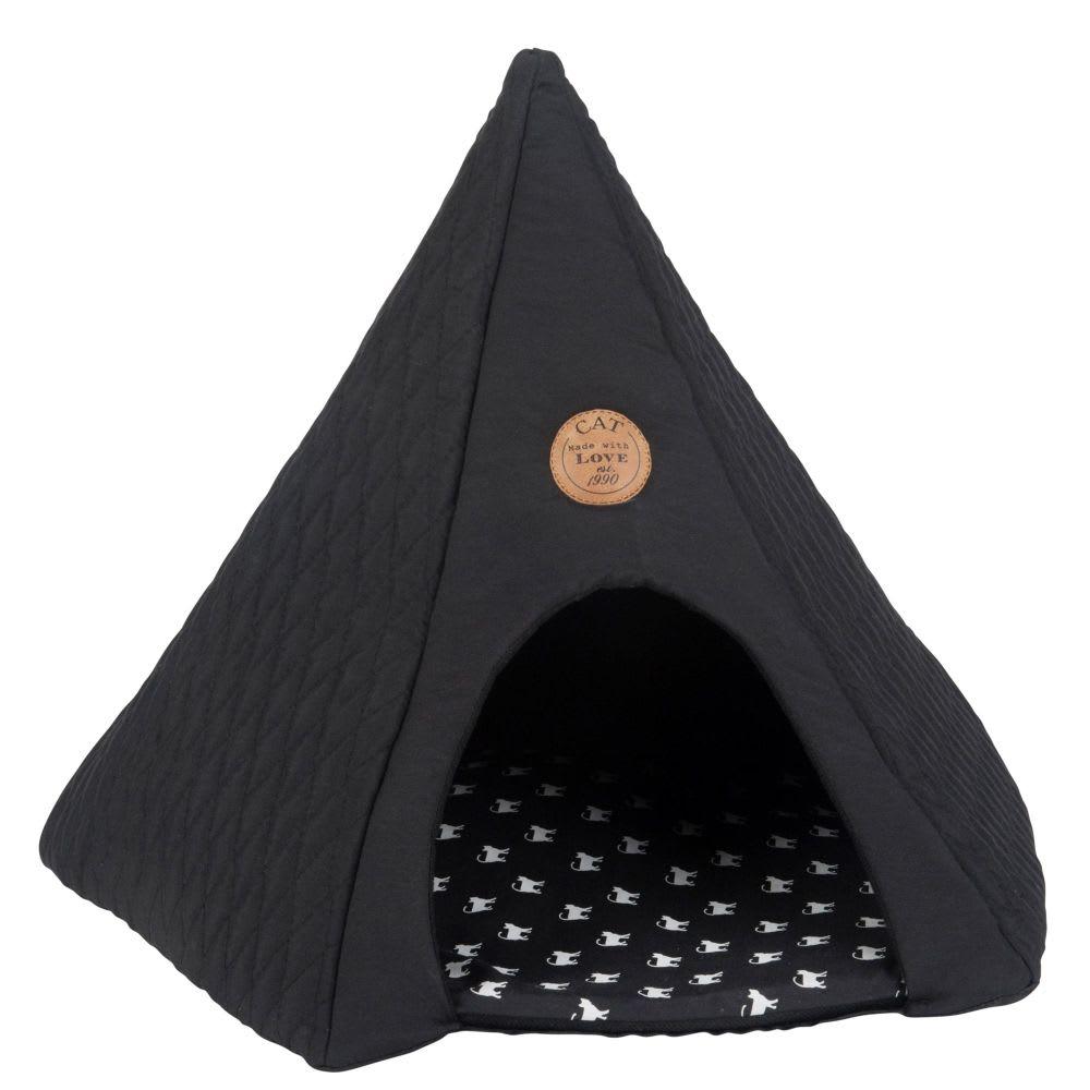 tipi pour chat gris fonc imprim club maisons du monde. Black Bedroom Furniture Sets. Home Design Ideas