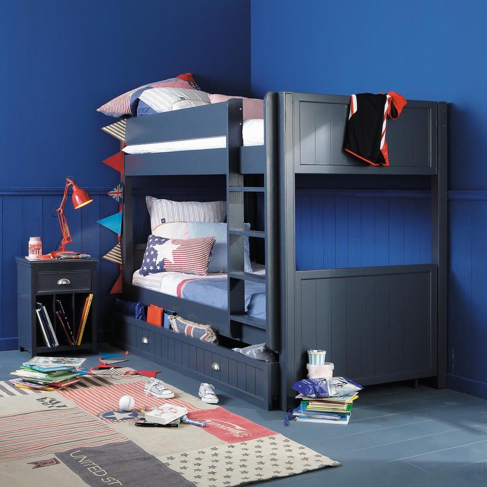 tiroir de rangement couchage 90x190 en bois gris newport. Black Bedroom Furniture Sets. Home Design Ideas