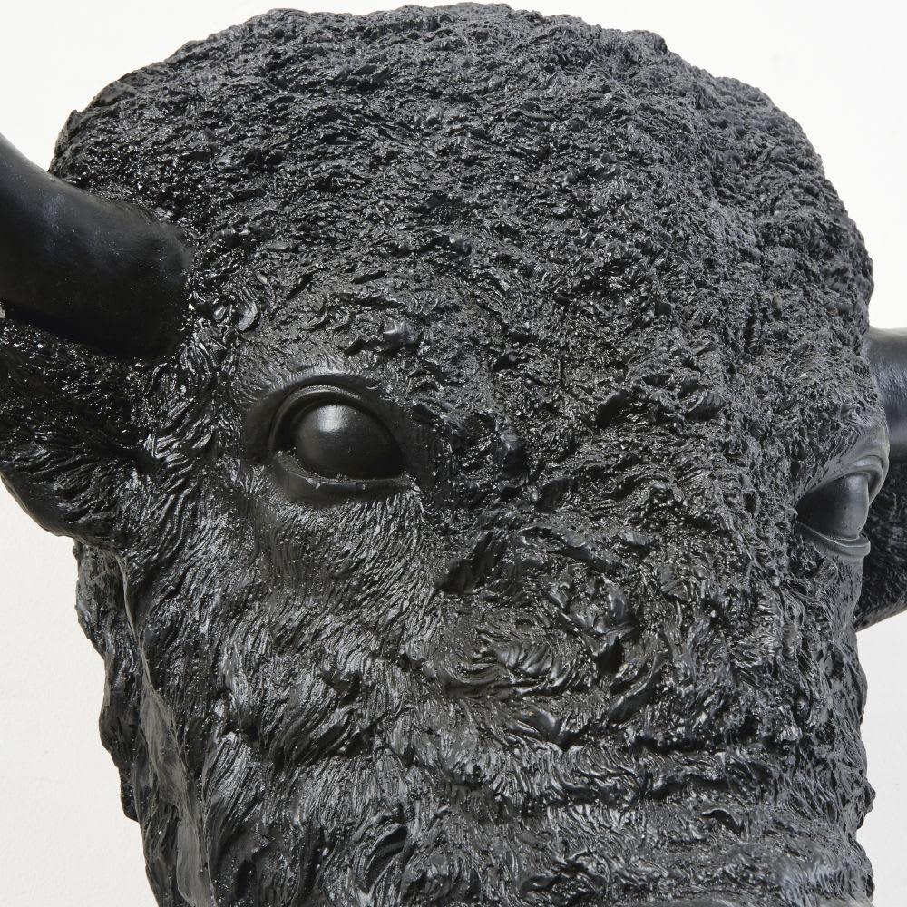 troph e mural t te de bison noire 50x61 dakota maisons. Black Bedroom Furniture Sets. Home Design Ideas
