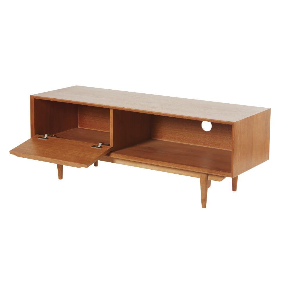 tv m bel im vintage stil mit 1 t r aus massiveiche. Black Bedroom Furniture Sets. Home Design Ideas