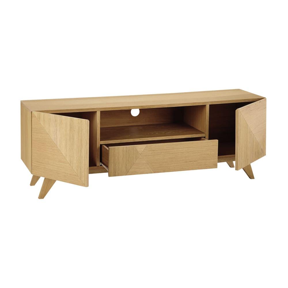 Tv Möbel Im Vintage Stil Mit 2 Türen Und 1 Schublade Origami