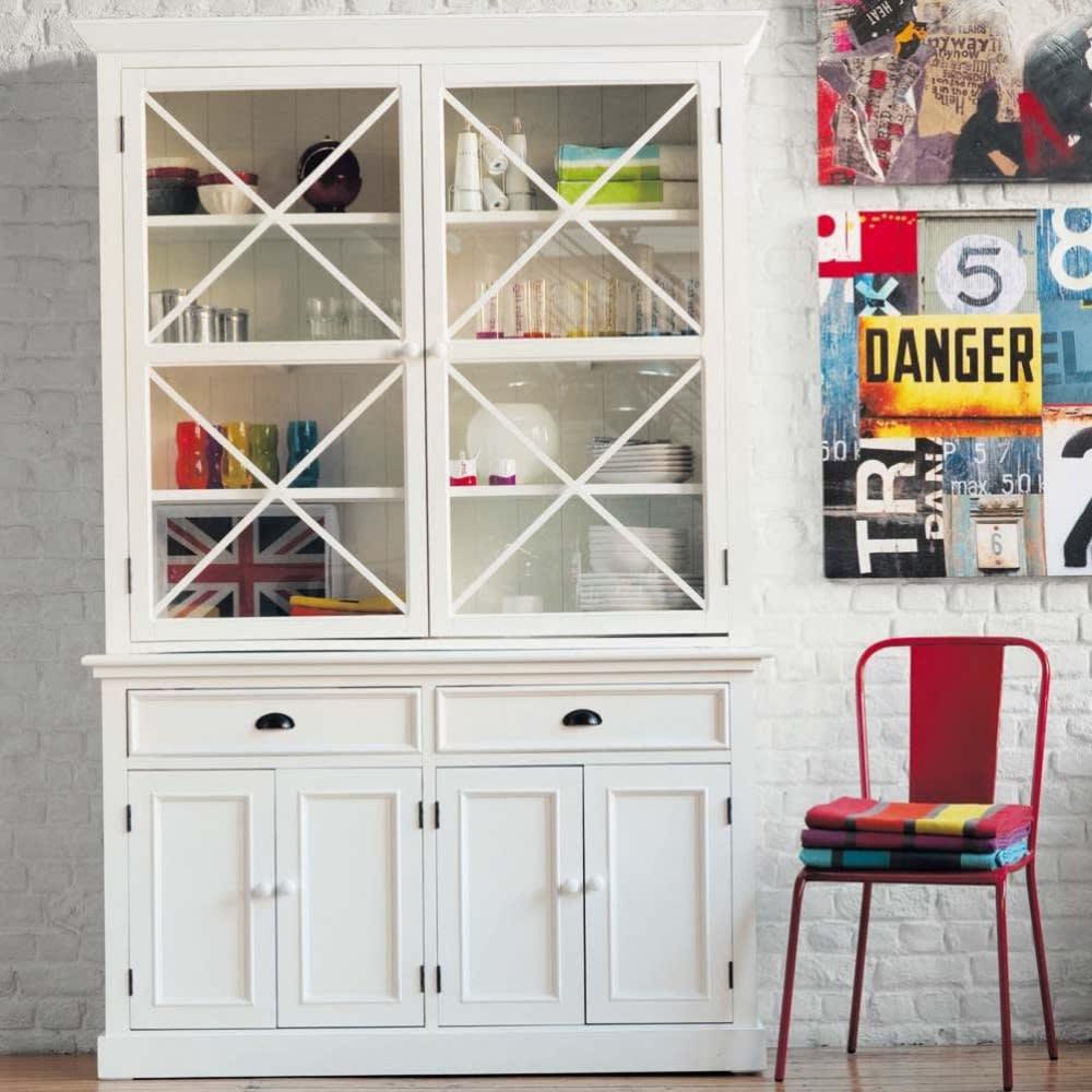 vaisselier 6 portes 2 tiroirs blanc newport maisons du monde. Black Bedroom Furniture Sets. Home Design Ideas