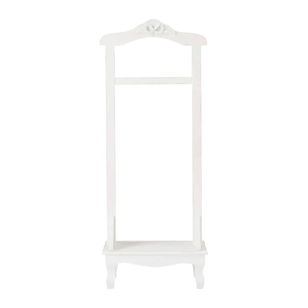 Valet de chambre blanc avec pied en sapin CHARLOTTE | Maisons du Monde