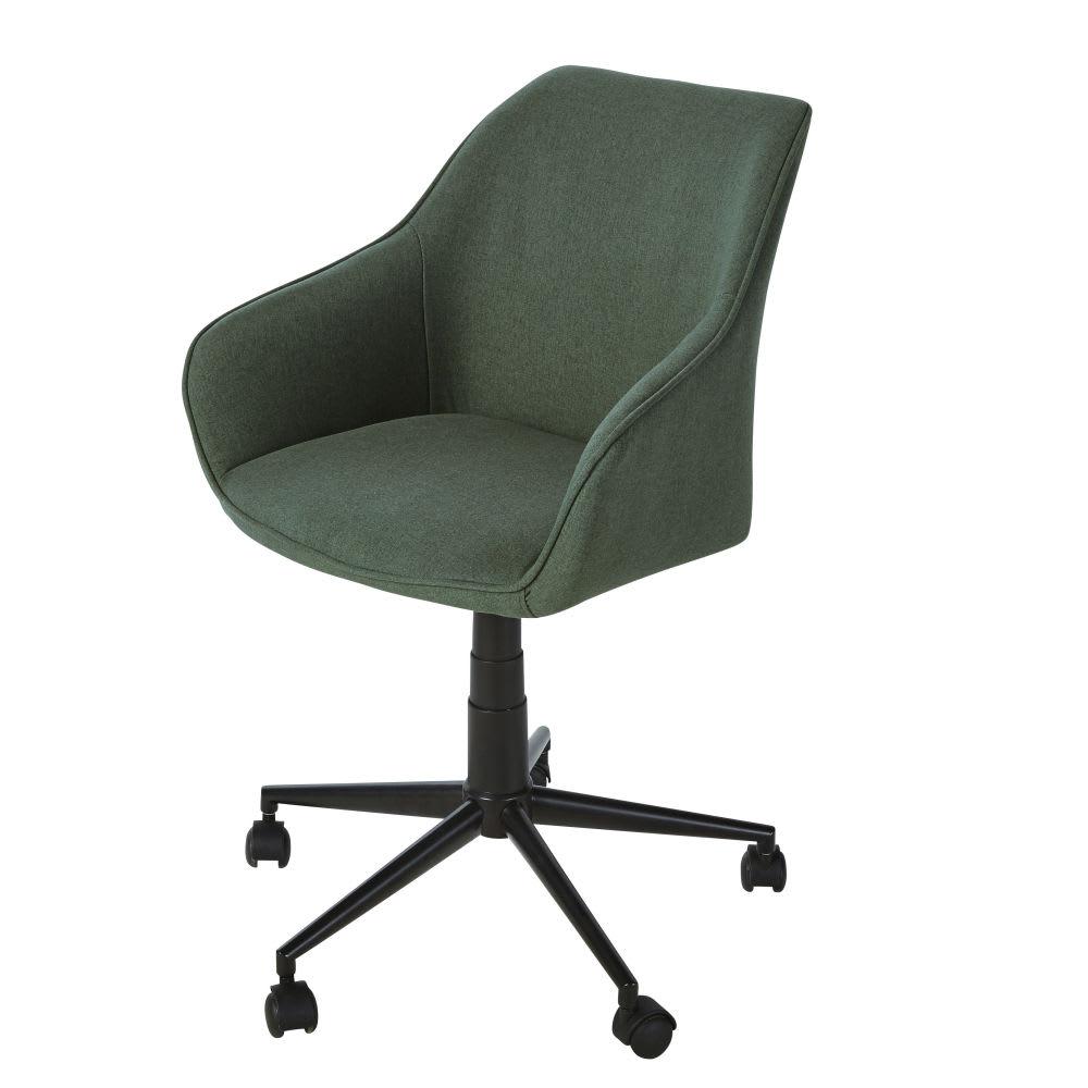 Verstelbare Bureaustoel Zwart.Verstelbare Groene Bureaustoel Met Wieltjes En Zwart Metaal Jake Pro