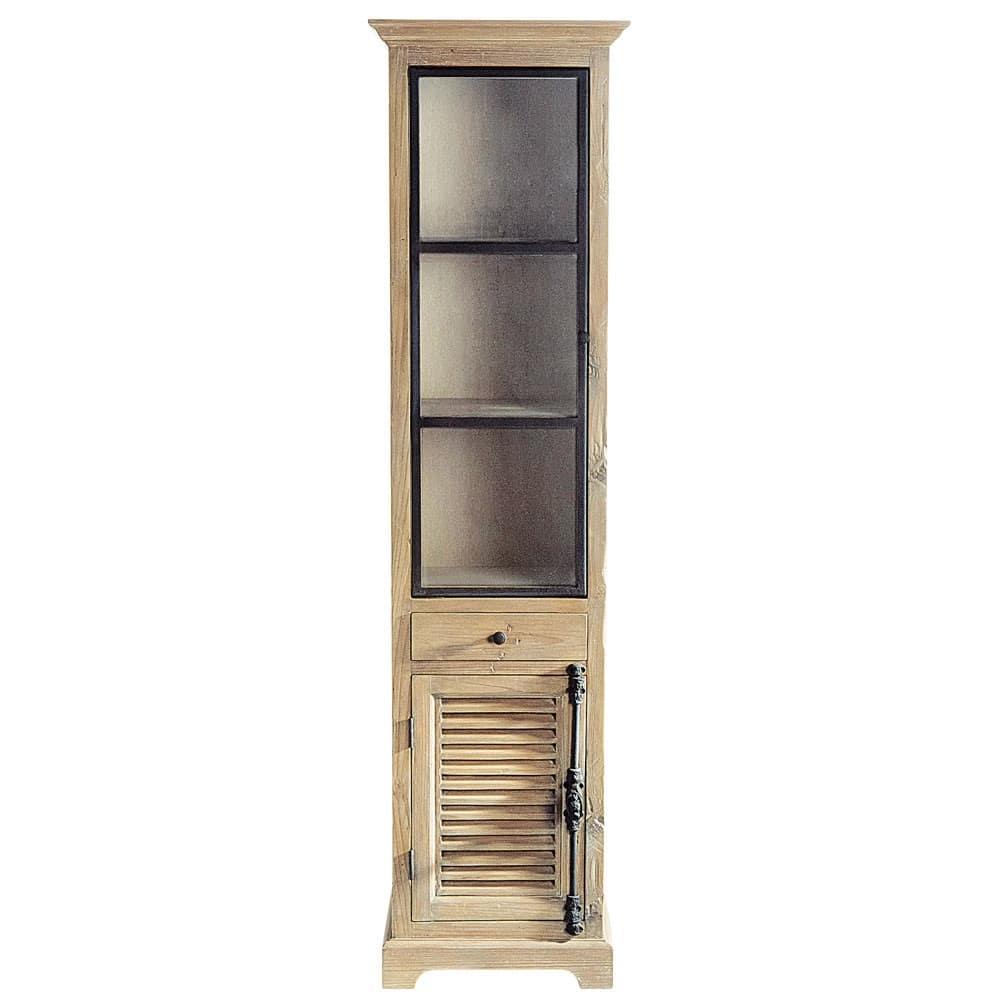 Vetrina in legno riciclato L 52 cm Persiennes | Maisons du Monde