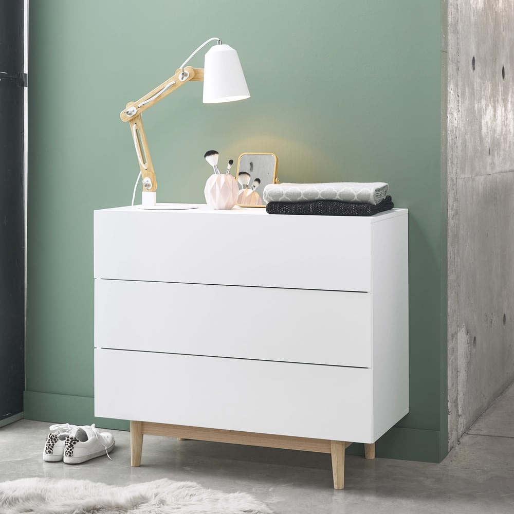 Vintage Chest Of Drawers In White Artic Maisons Du Monde