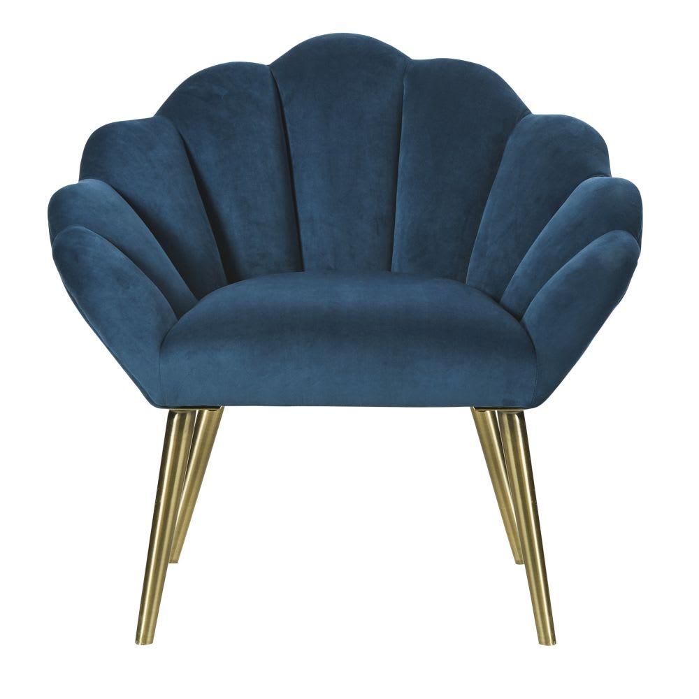 Vintage eendenblauwe fauteuil Homarid