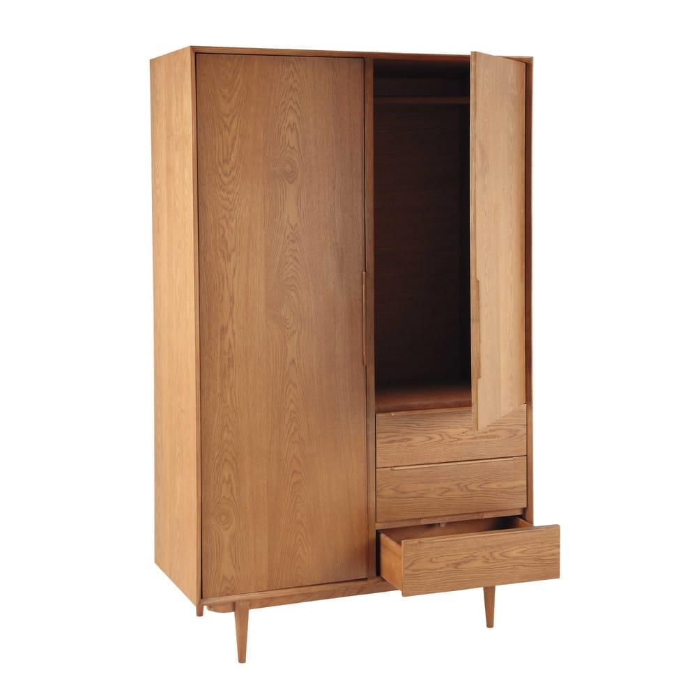 Vintage Kleiderschrank Mit 2 Türen Und 3 Schubladen Portobello