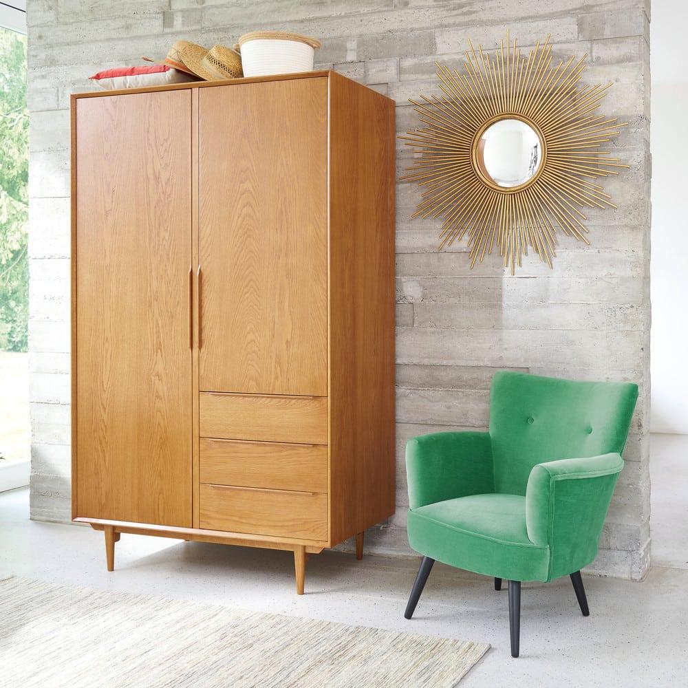 Vintage Kleiderschrank Mit 2 Turen Und 3 Schubladen Portobello