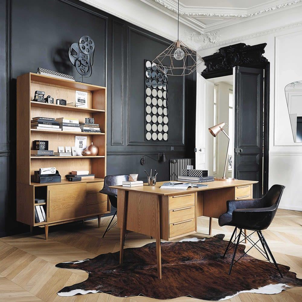 Vintage Schreibtisch aus massiver Eiche Portobello | Maisons du Monde
