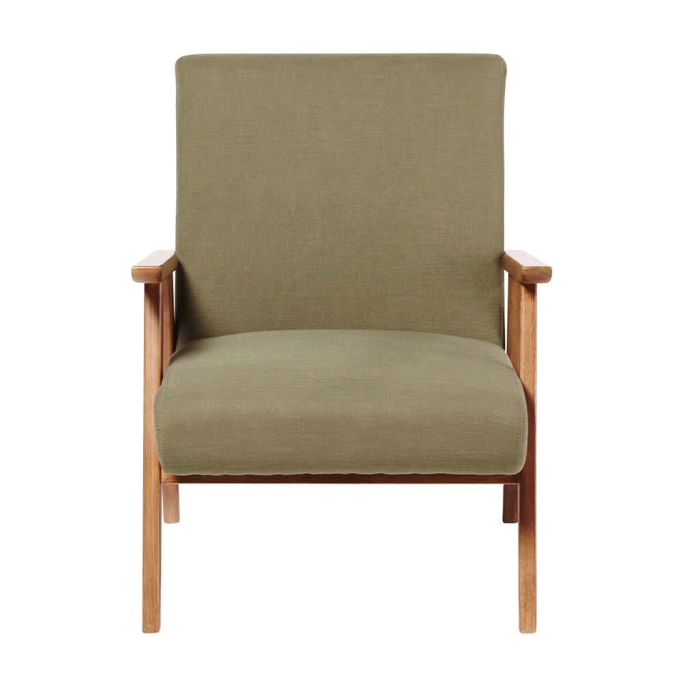 Vintage Sessel Khakigrün Hermann Maisons Du Monde