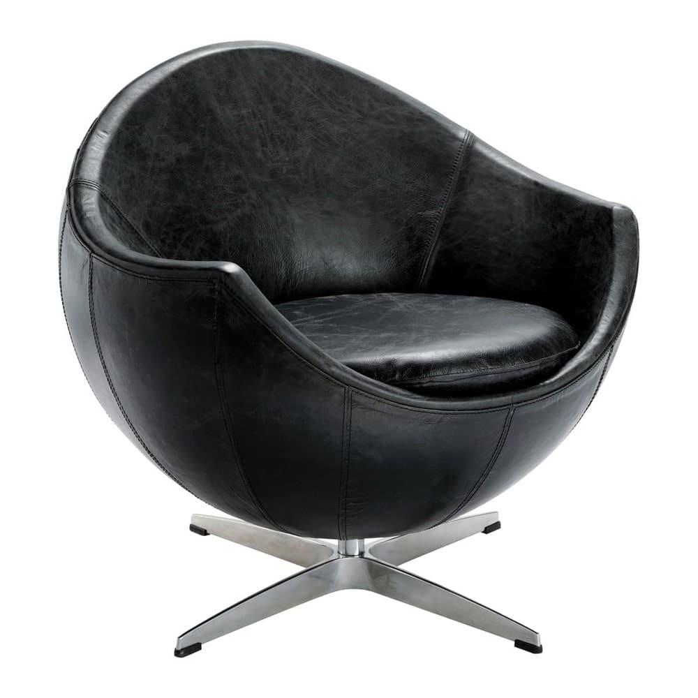 vintage sessel leder schwarz guariche mars home run. Black Bedroom Furniture Sets. Home Design Ideas