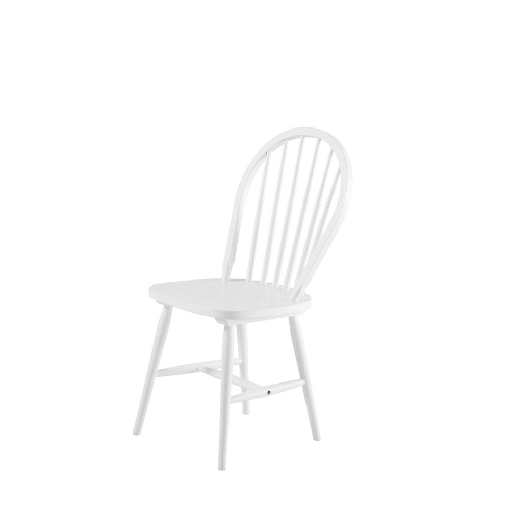 Vintage Stuhl Aus Kautschukholz Weiß